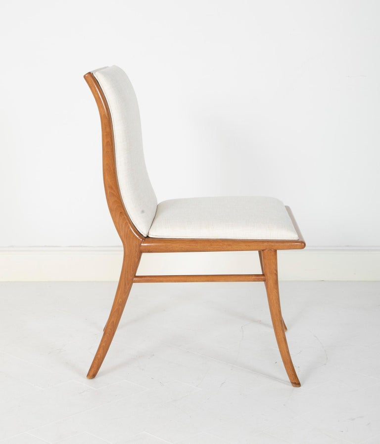 Set of Six Dining Chairs by T.H Robsjohn-Gibbings For Sale 7