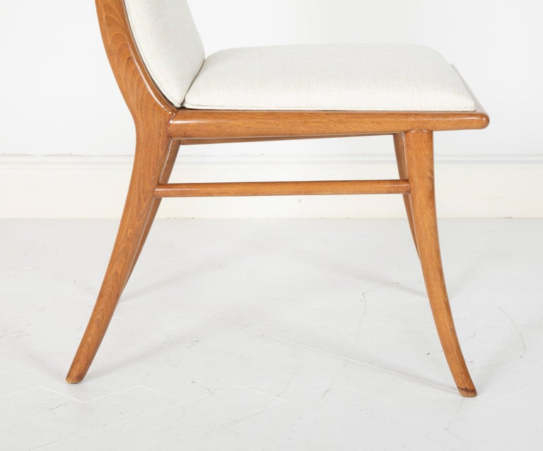 Set of Six Dining Chairs by T.H Robsjohn-Gibbings For Sale 8