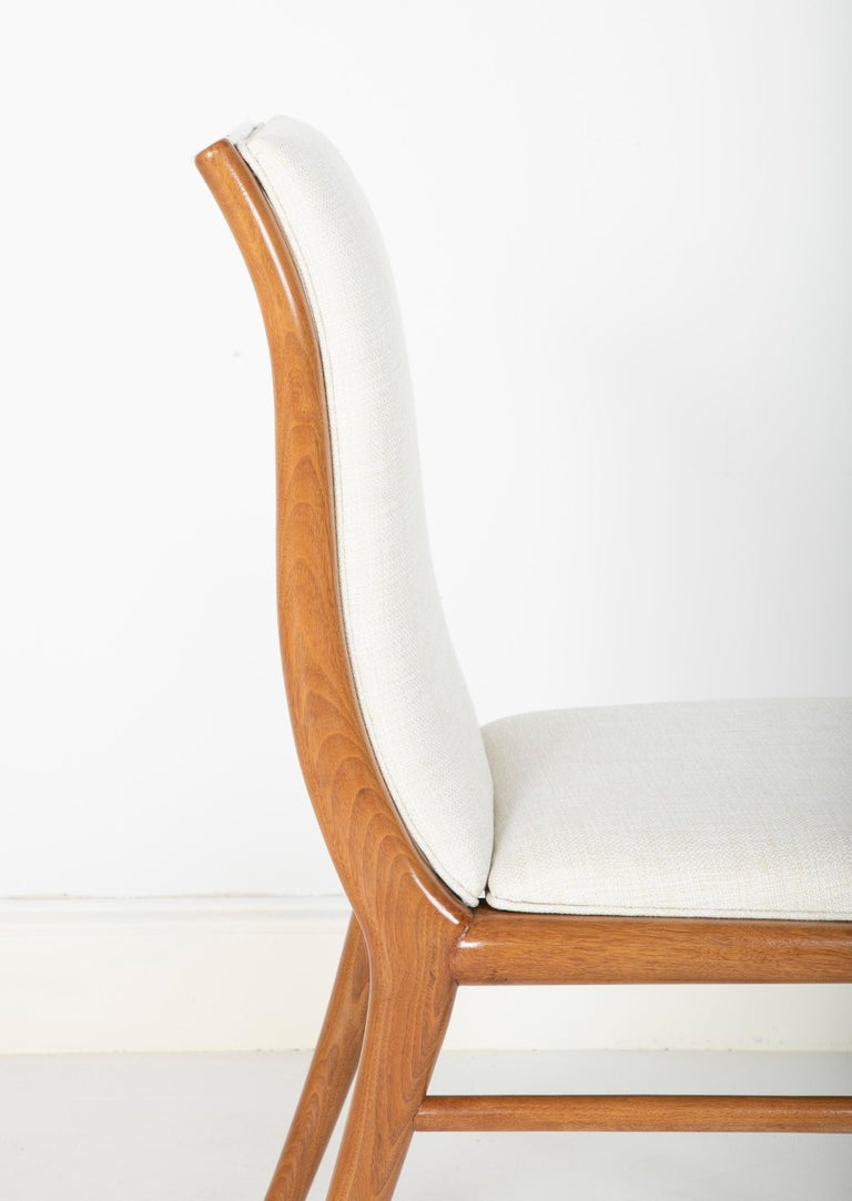 Set of Six Dining Chairs by T.H Robsjohn-Gibbings For Sale 9
