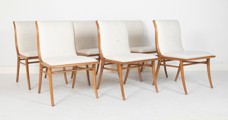American Set of Six Dining Chairs by T.H Robsjohn-Gibbings For Sale