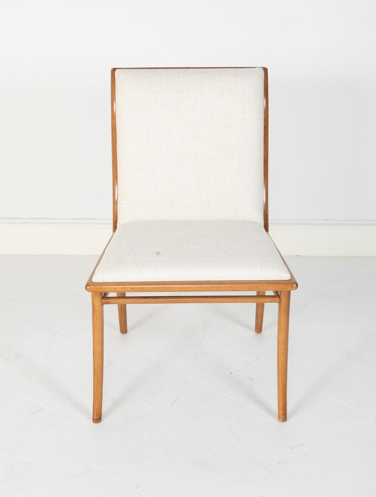 Wood Set of Six Dining Chairs by T.H Robsjohn-Gibbings For Sale