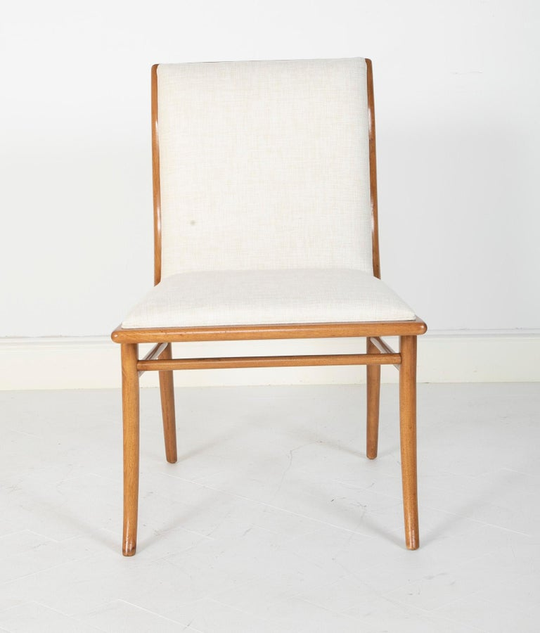 Set of Six Dining Chairs by T.H Robsjohn-Gibbings For Sale 1