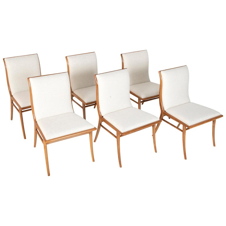 Set of Six Dining Chairs by T.H Robsjohn-Gibbings For Sale