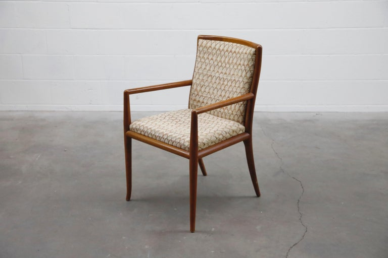 Mid-Century Modern Set of Six Dining Chairs by T.H. Robsjohn-Gibbings for Widdicomb, 1950s For Sale