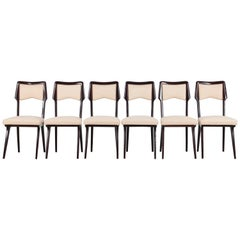 Vittorio Dassi Set of Six Cream Colored Dining Chairs