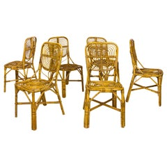 Set of Six Dining Chairs, circa 1970, France