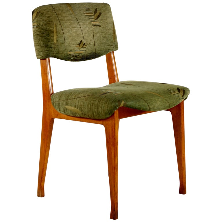 Super Ico Parisi For Mim Six Italian Wooden Dining Chairs Green Fabric Seats 1950 Ibusinesslaw Wood Chair Design Ideas Ibusinesslaworg