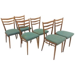 Set of Six Dining Chairs Designed by Jindřich Halabala for UP Závody, 1960