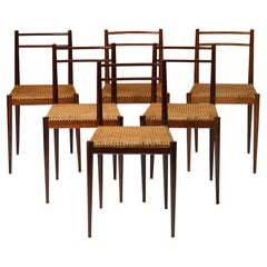 Set of Six Dining Chairs Designed by Jörgen Clausen, Denmark, 1950's