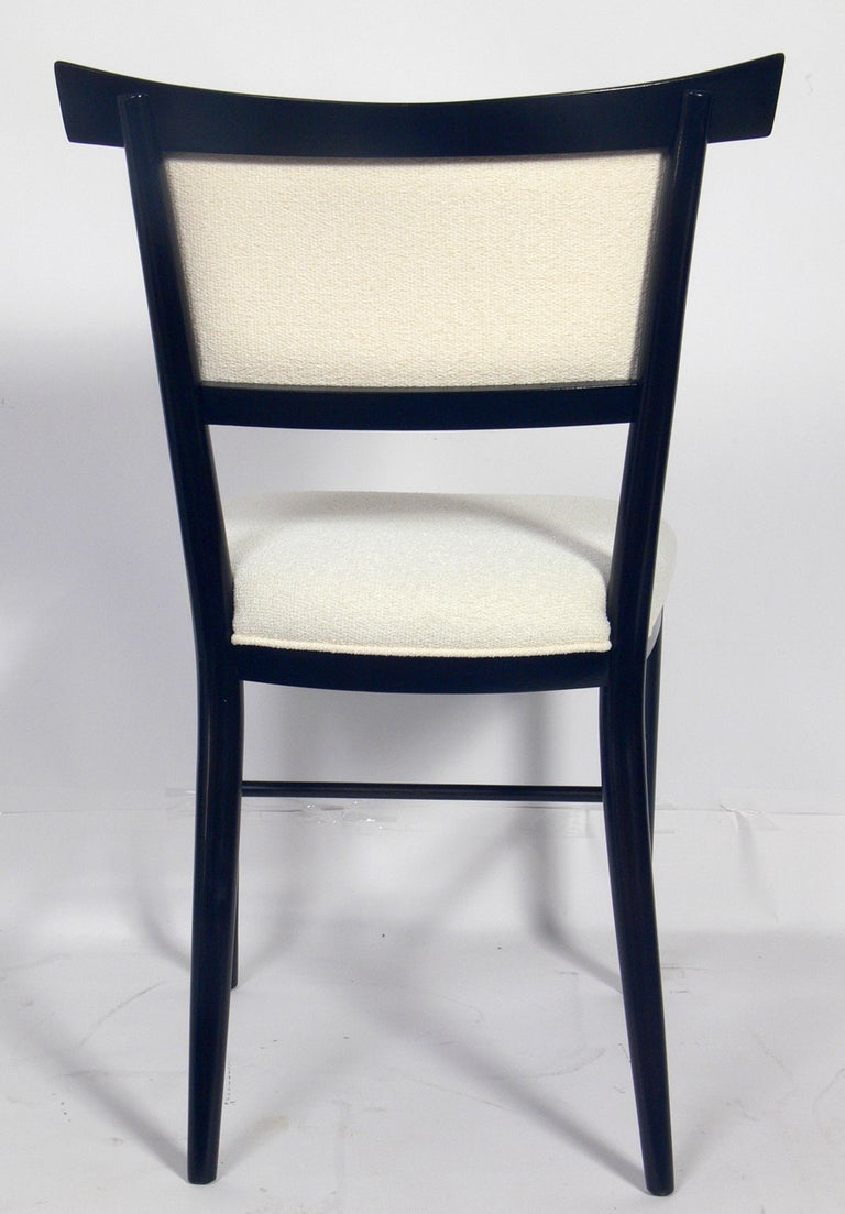 Lacquered Set of Six Dining Chairs Designed by Paul McCobb For Sale