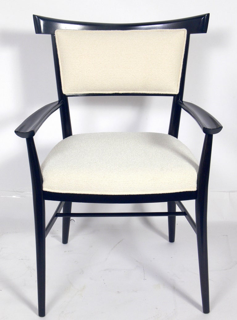 Upholstery Set of Six Dining Chairs Designed by Paul McCobb For Sale