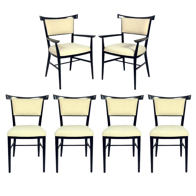 Set of Six Dining Chairs Designed by Paul McCobb For Sale