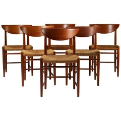Set of Six Dining Chairs Designed by Peter Hvidt and Orla Möllgaard Nielsen