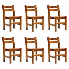 Set of Six Dining Chairs from Les Arcs Ski Resort