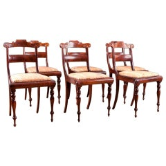 Set of Six Dining Chairs in Mahogany, Northern Europe, c. 1835