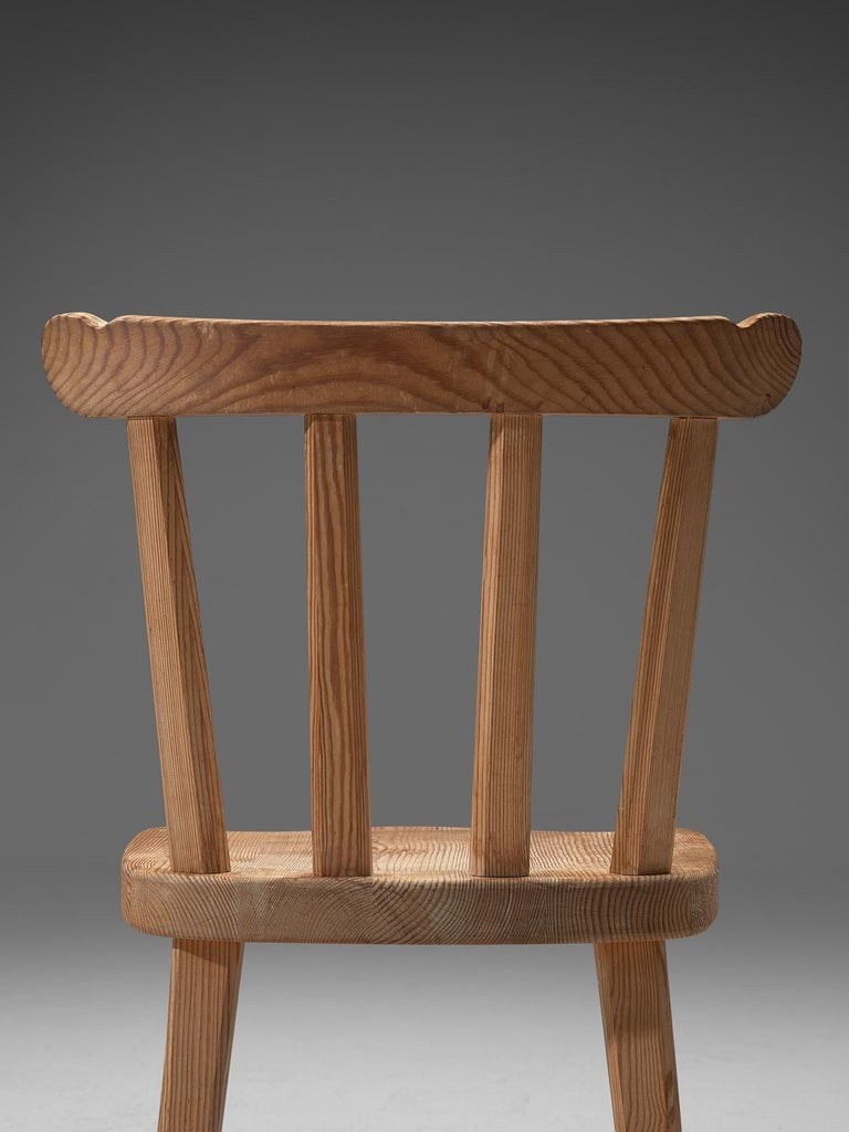 Mid-20th Century Set of Six Dining Chairs in Pine for Nordiska Kompaniet Sweden For Sale