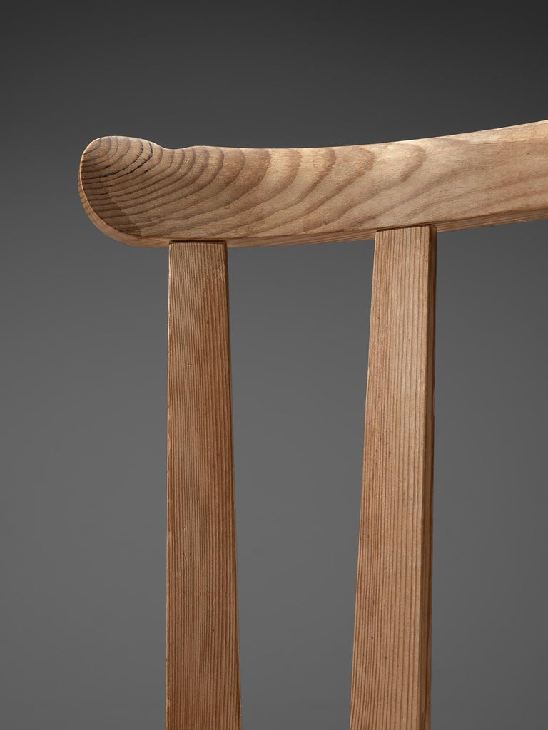 Set of Six Dining Chairs in Pine for Nordiska Kompaniet Sweden For Sale 1