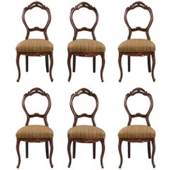 Set of Six Dining Chairs in Rococo Style from 1860s