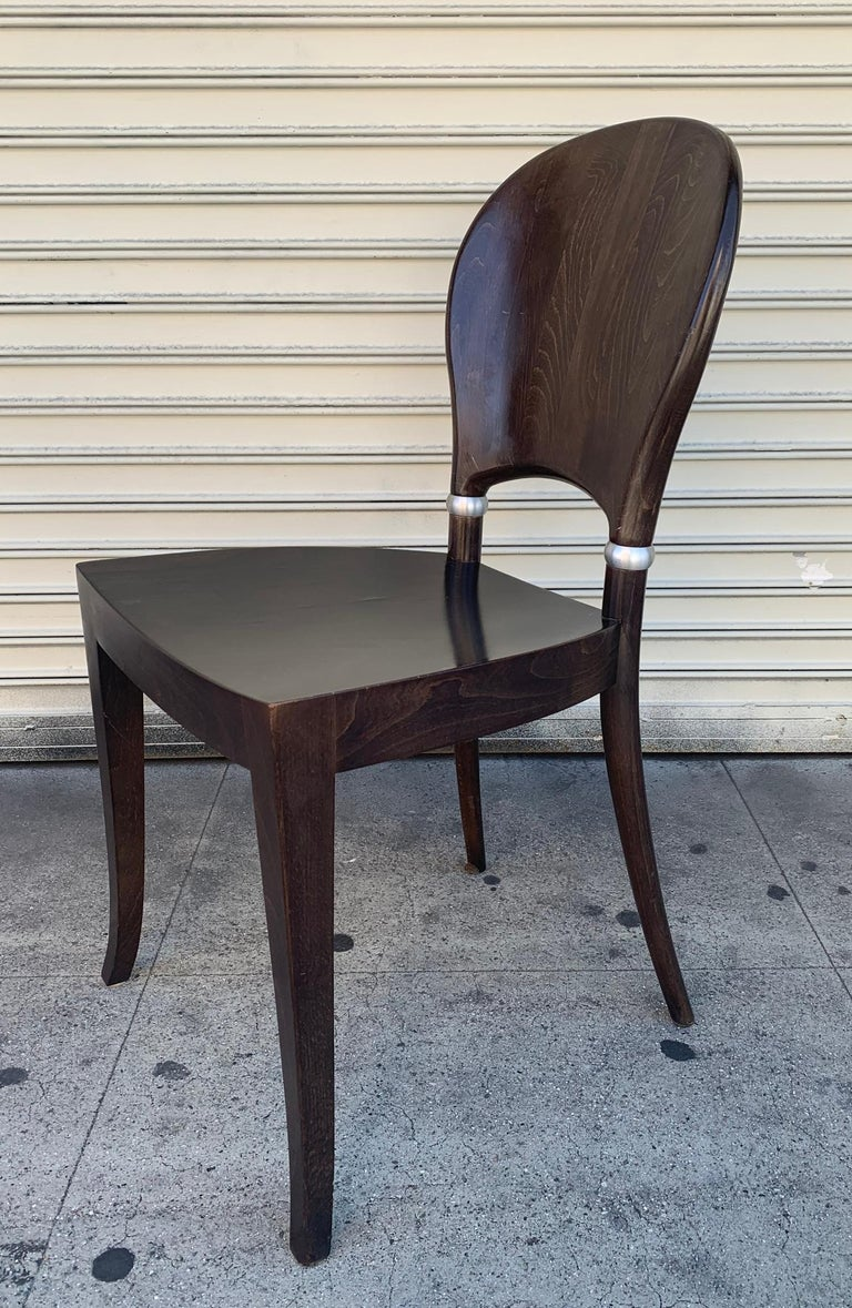 Modern Set of Six Dining Chairs Made in Italy Bu Potocco, Italy For Sale