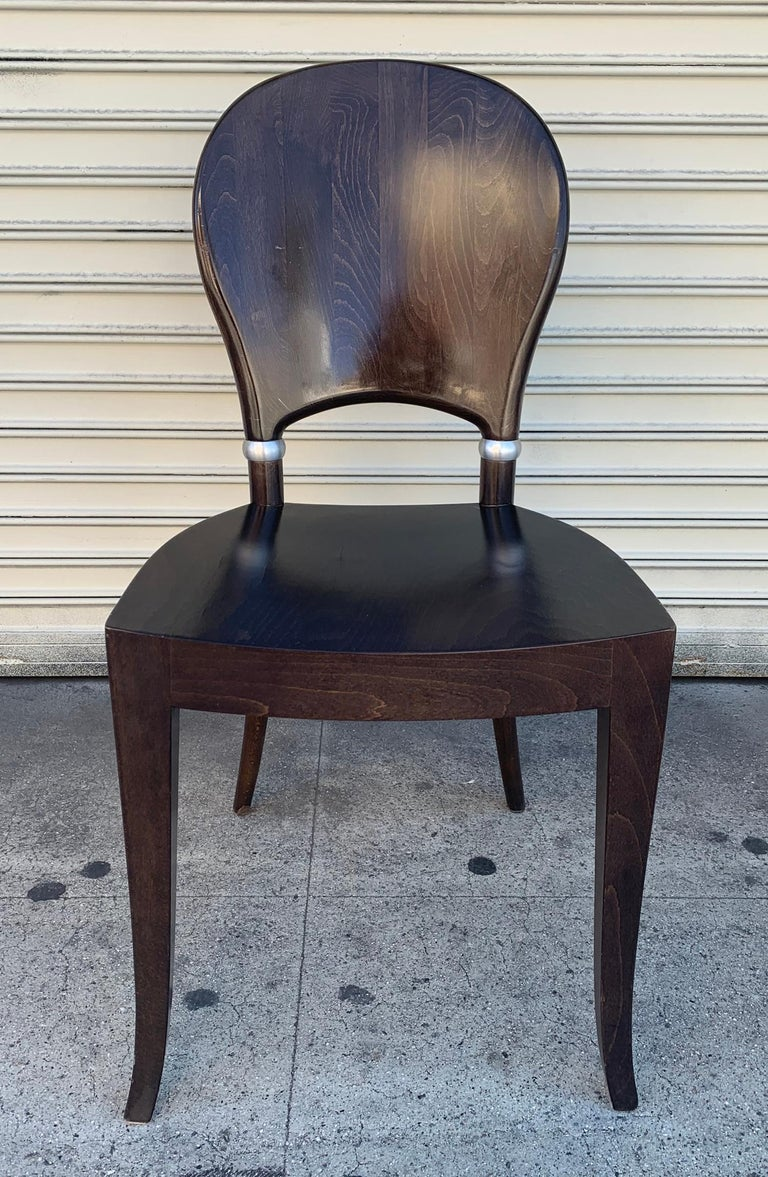 Set of Six Dining Chairs Made in Italy Bu Potocco, Italy In Good Condition For Sale In Los Angeles, CA