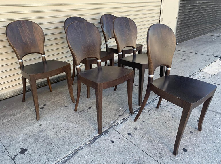 Set of Six Dining Chairs Made in Italy Bu Potocco, Italy For Sale 1