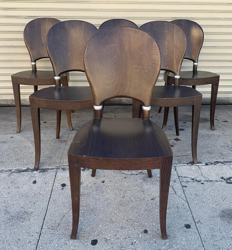 Set of Six Dining Chairs Made in Italy Bu Potocco, Italy For Sale 2