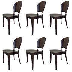 Set of Six Dining Chairs Made in Italy Bu Potocco, Italy