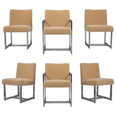 Set of Six Dining Chairs Milo Baughman Style
