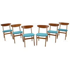 Set of Six Dining Chairs Model 210r, Designed by Thomas Harlev, Denmark