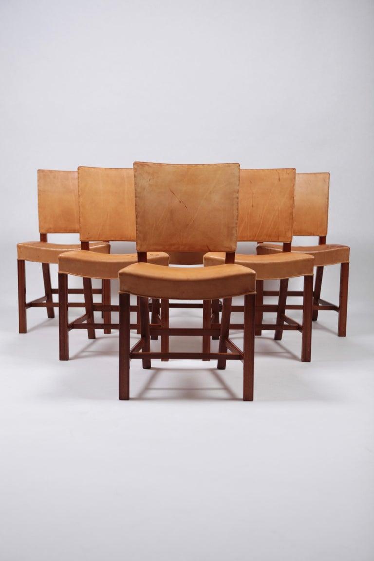 Scandinavian Modern Set of Six Dining Chairs