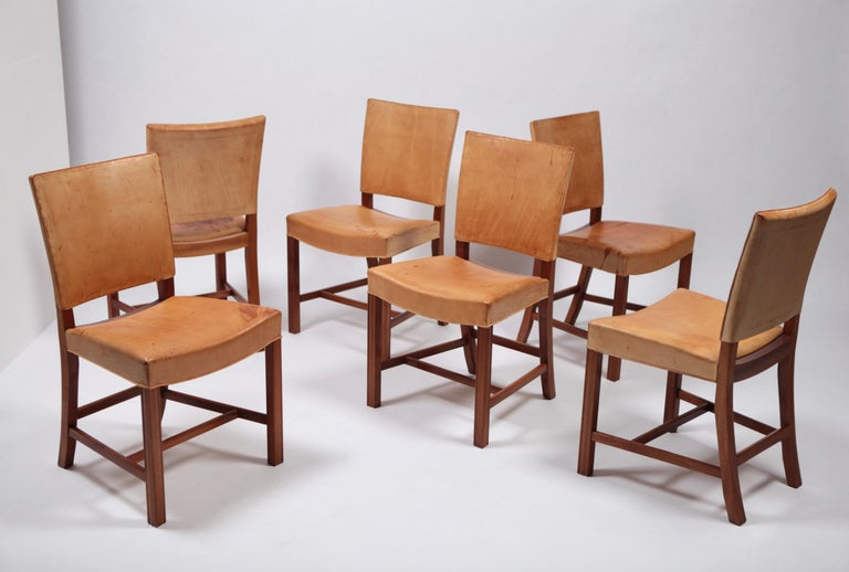 Mid-20th Century Set of Six Dining Chairs