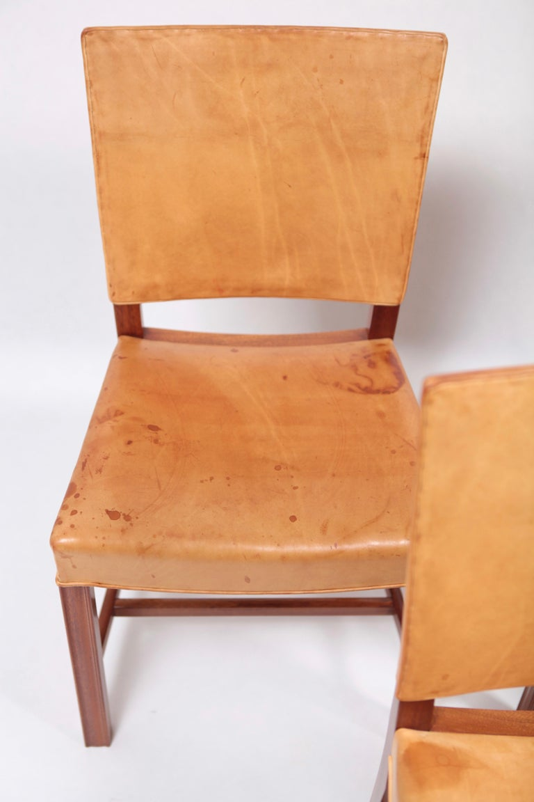 Leather Set of Six Dining Chairs