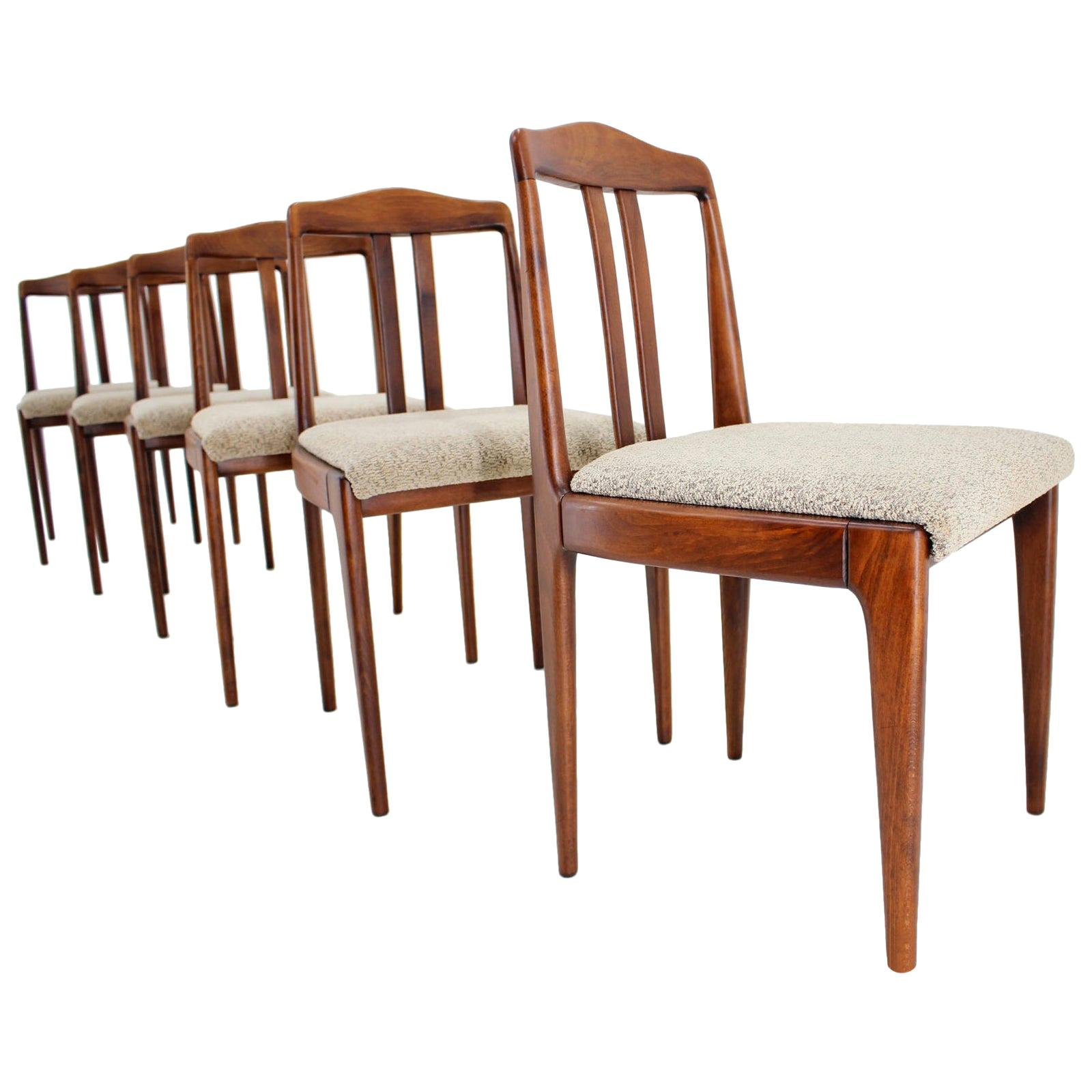 Set of Six Dining Chairs, 1960s