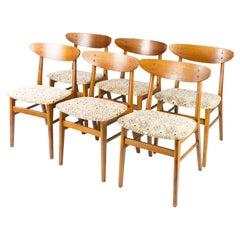Set of Six Dining Room Chairs in Teak of Danish Design, 1960s