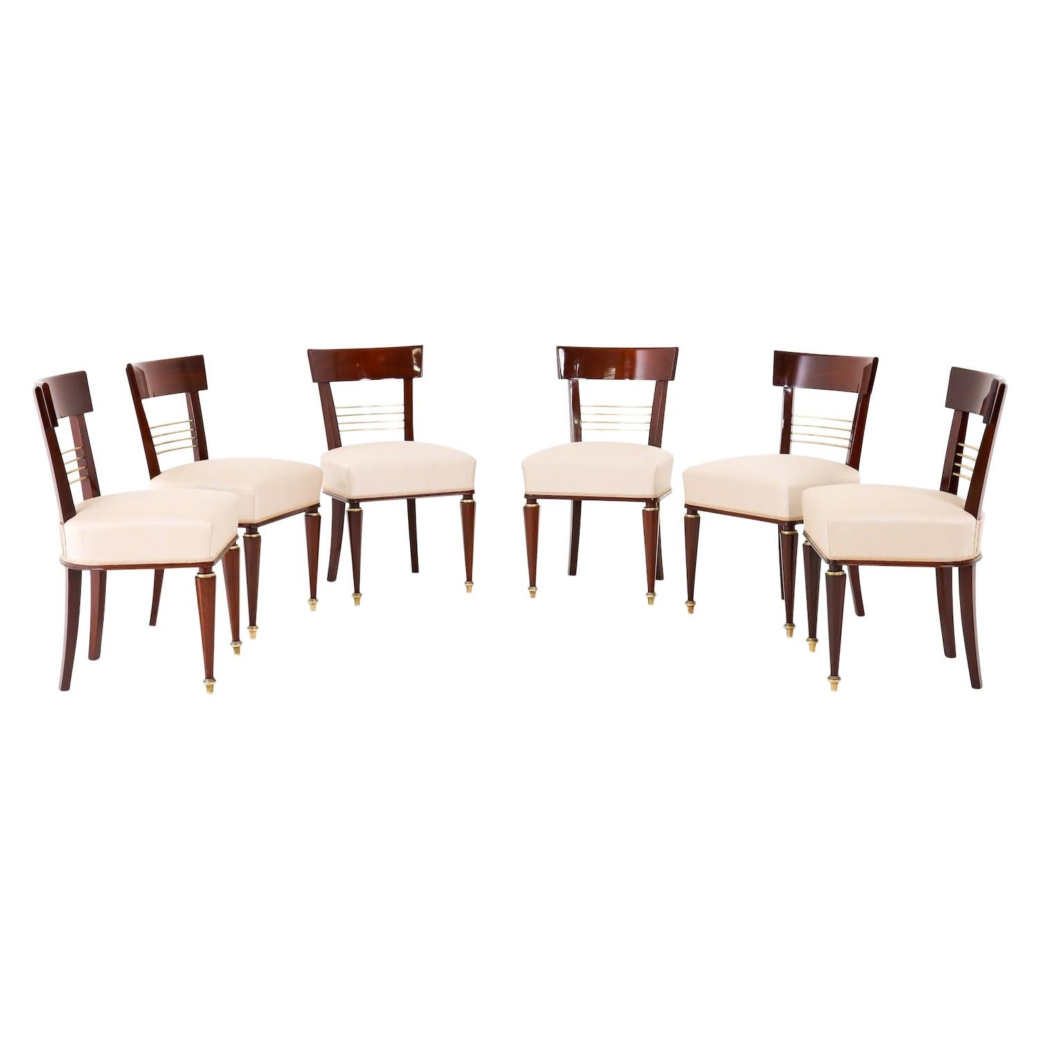 Set of Six Dining Room Chairs, Mid-19th Century