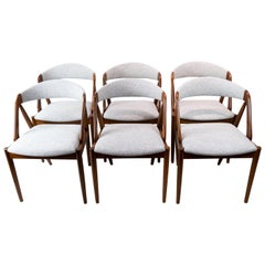 Set of Six Dining Room Chairs, Model 31, Designed by Kai Kristiansen