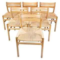 Set of Six Dining Room Chairs, Model BM1, of Oak, by Børge Mogensen