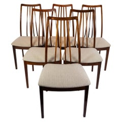 Set of Six Dining Room Chairs of Rosewood of Danish Design, 1960s