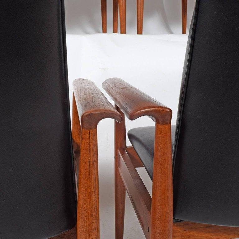 Set of Six Diplomat Armchairs by Finn Juhl for France & Son In Good Condition For Sale In Dallas, TX