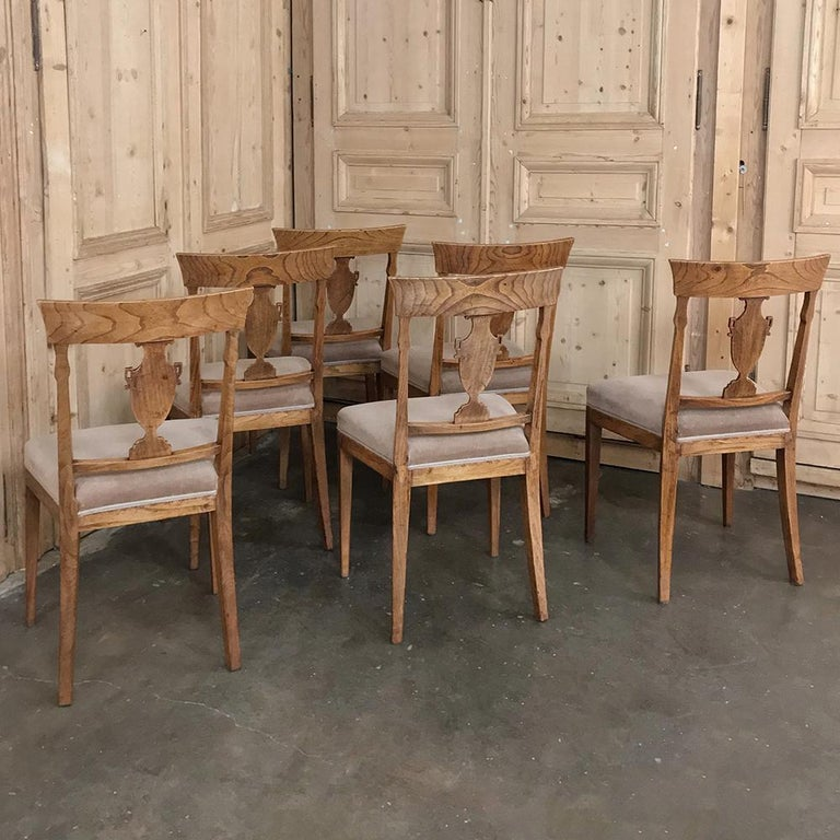 Set of Six 18th Century Neoclassical Swedish Dining Chairs For Sale 7