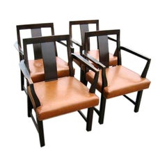 Set of Six Dunbar Armchairs by Wormley