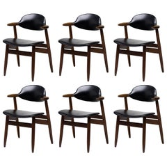 Set of Six Dutch Cow Horn Chairs