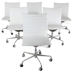 Set of Six 'Eames' Style Office Chairs