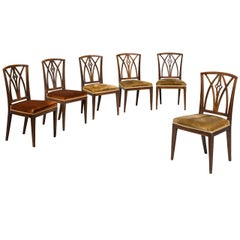 Set of Six Early 19th Century Elm Dining Chairs