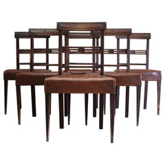 Set of Six Early 19th Century Swedish Chairs in the English Taste
