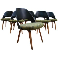 Set of Six Early Dining Chairs Designed by Eero Saarinen for Knoll Associates