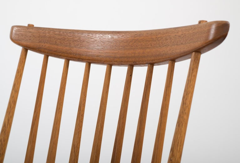 Set of Six Early George Nakashima New Chairs, United States, 1958 For Sale 3