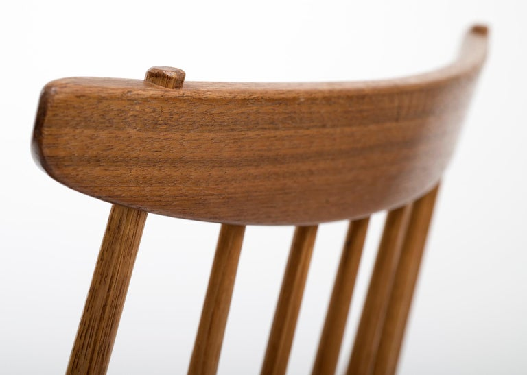 Set of Six Early George Nakashima New Chairs, United States, 1958 For Sale 4