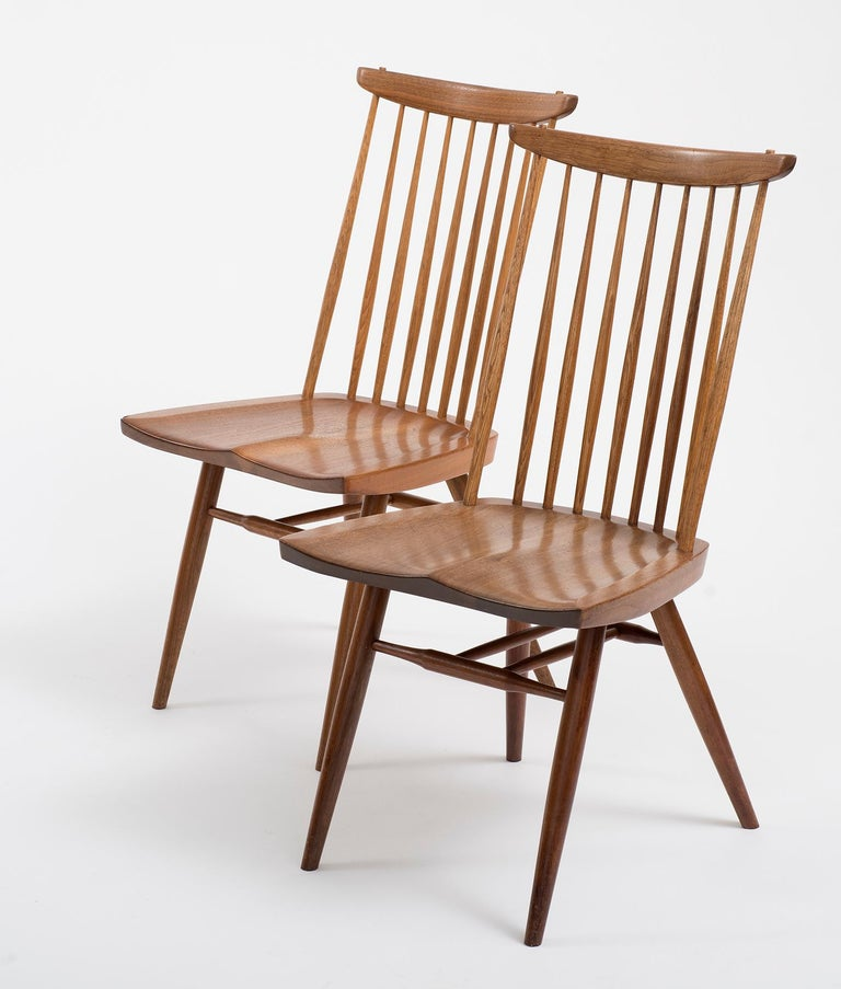Organic Modern Set of Six Early George Nakashima New Chairs, United States, 1958 For Sale