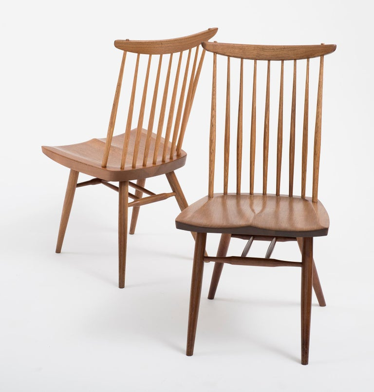 American Set of Six Early George Nakashima New Chairs, United States, 1958 For Sale